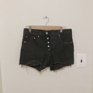 Levis 501 short black denim